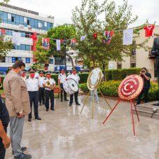 29 Ekim Cumhuriyet Bayramı çelenk sunma töreni gerçekleşti