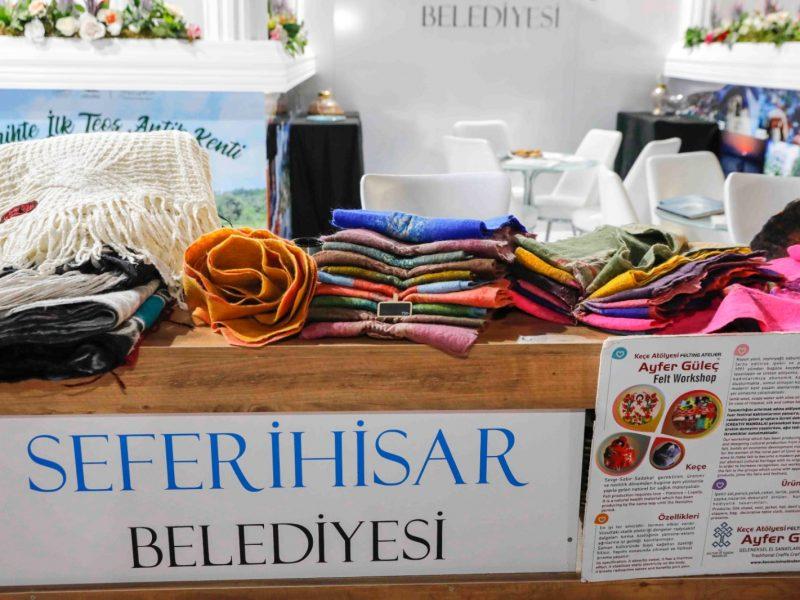 İEF'de Seferihisar'a büyük ilgi; Seferihisar Belediyesi standı göz doldurdu