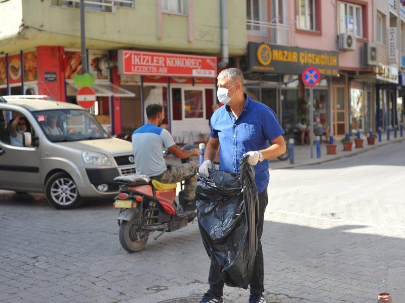 """18 Eylül Dünya Temizlik Günü'nde """"Temiz Seferihisar Temiz Evimiz"""" etkinliği"""